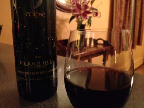 Eclipse 2006 Heron Hill Red Blend, Finger Lakes region, New York, USA.