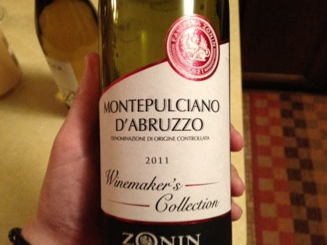 2011 Zonin Montepulciano d'Abruzzo, Abruzzo, Italy.