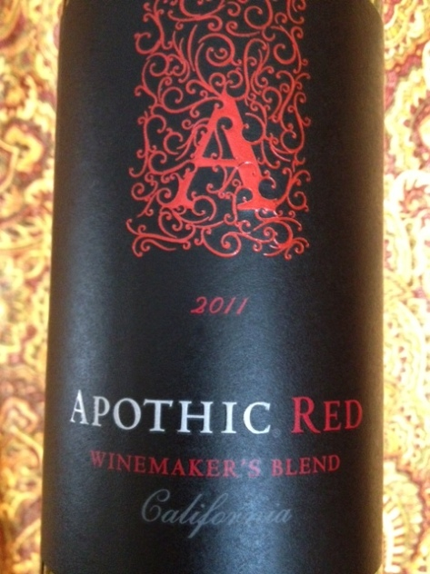 Apothic Red Blend, 2011, California, USA.