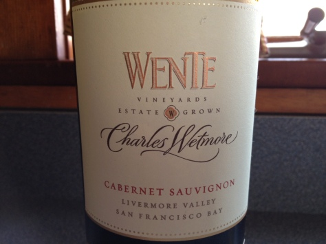 Wente Vineyards Charles Whitmore 2010 Heritage Block Cabernet Sauvignon, Livermore Valley, CA, USA.