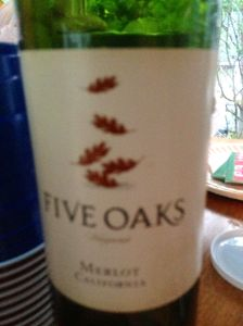 Five Oaks Merlot, Gallo Family Vineyards, Sonoma Valley, California, USA.