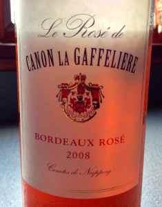 Château Canon-la-Gaffelière Rosé Blend Bordeaux Rosé 2008, France.