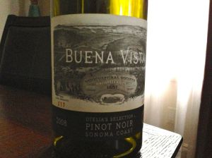 Buena Vista 2008 Pinot Noir, Otelia's Selection, Sonoma, California, USA.