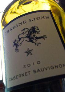 Chasing Lions 2010 Cabernet Sauvignon, Napa Valley, California, USA.