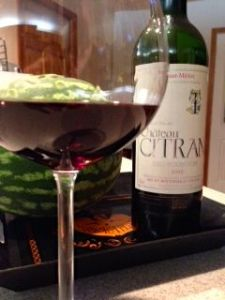 Chateau Citran Haut-Medoc Cru Bourgeois 2000, Bordeaux, France.
