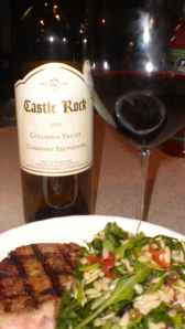 The 2010 Castle Rock Cabernet Sauvignon, with Columbia Valley grapes cellared and bottled in Geyserville, California, USA.