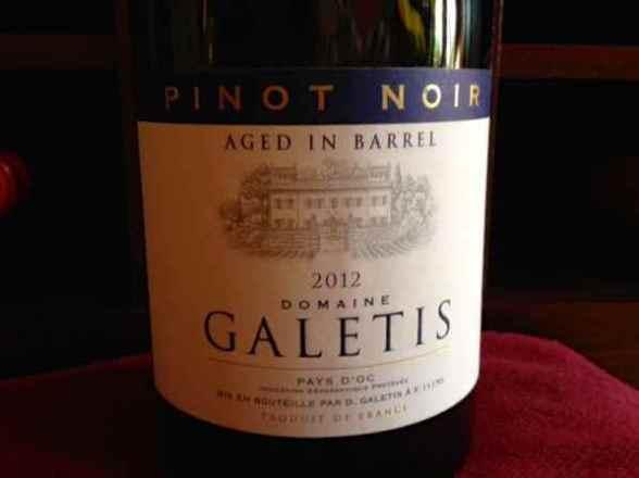 2012 Domaine Galetis Pinot Noir, Vin de Pays d'Oc, France