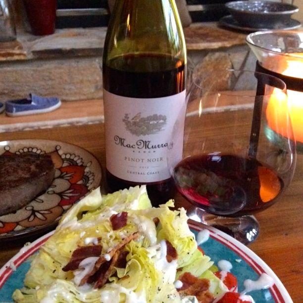 2012 MacMurray Ranch Pinot Noir Central Coast California USA.