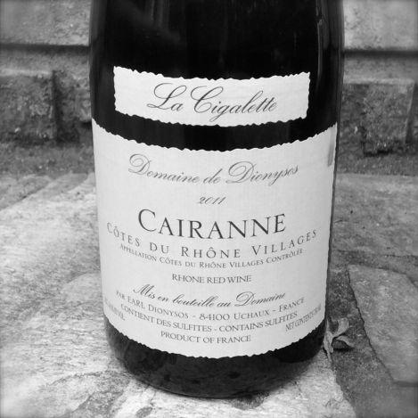 2011 Cairanne La Cigalette, Rhone Villages, France.
