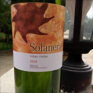 2010 Solanera, vinas viejas, Yecla, Spain.
