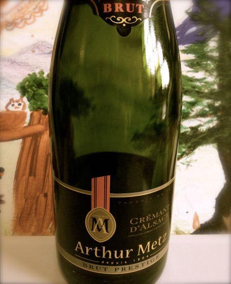 Cremant d'Alsace Arthur Metz Brut Prestige, France.