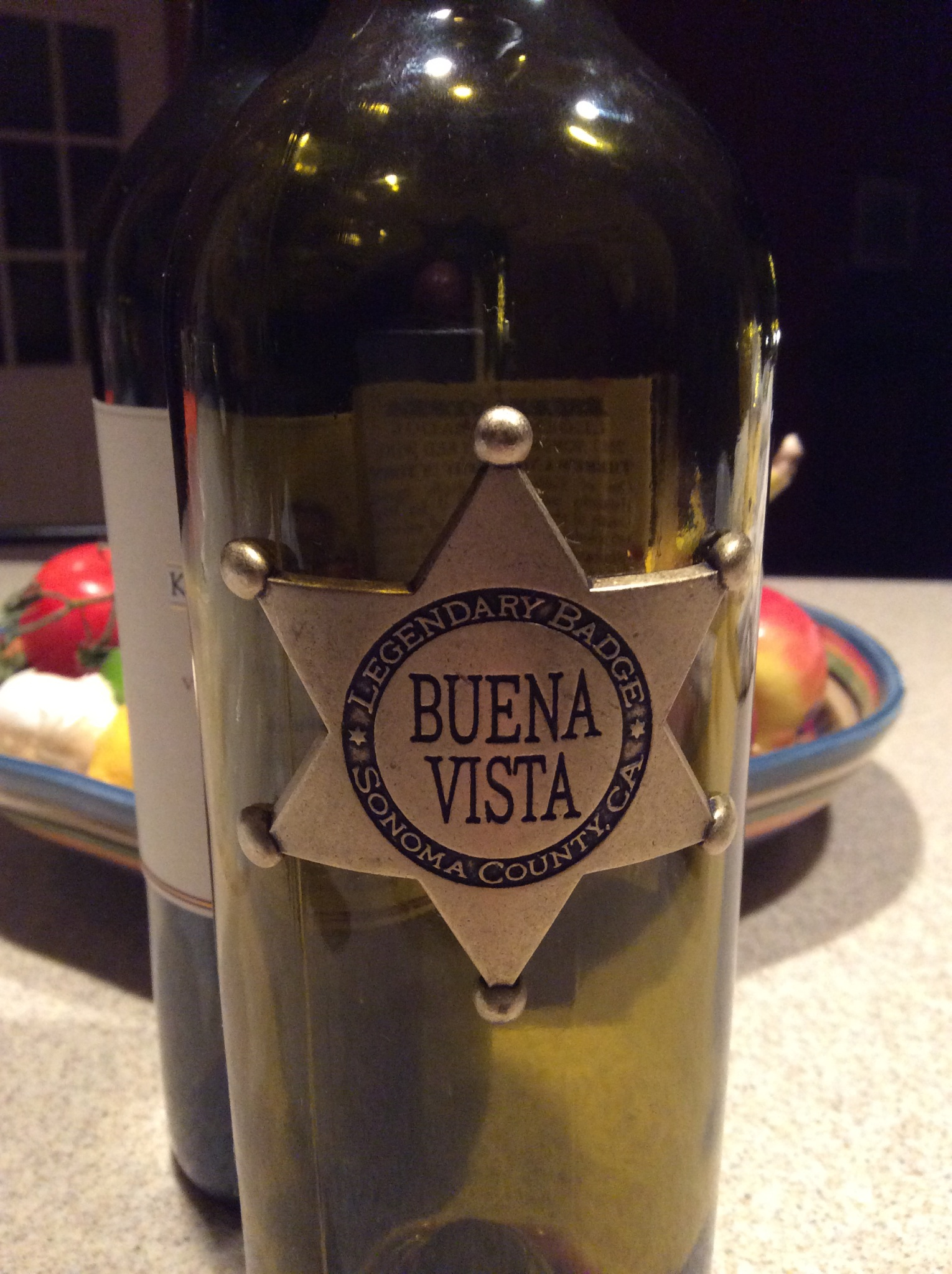 2012 Buena Vista Legendary Badge, Limited Edition, Sonoma, California, USA.