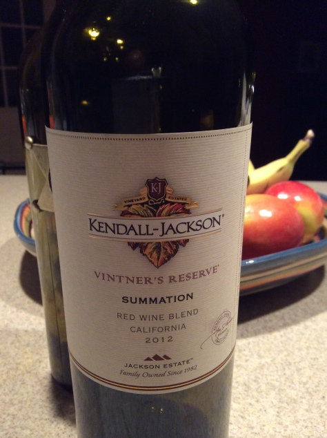 2012 Summation Red Wine Blend, Kendall Jackson, California, USA.