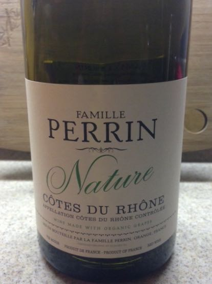 2012 Famille Perrin, Nature Cotes du Rhone, Orange, France.