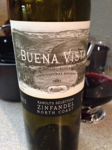 2012 Karoly's Selection Zinfandel North Coast, Buena Vista, California, USA.