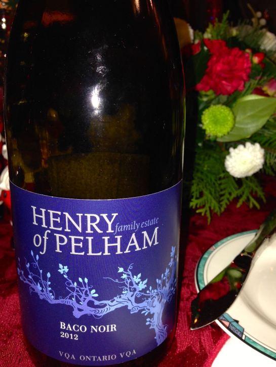 2012 Baco Noir, Henry of Pelham, Ontario, Canada.