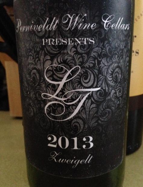 2013 LT Zweigelt, Perniveldt Wine Cellars, Rochester, New York, USA.