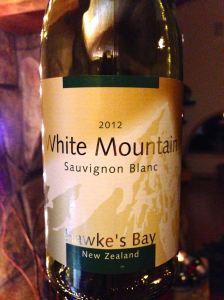 2012 White Mountain Sauvignon Blanc, Hawke's Bay, New Zealand