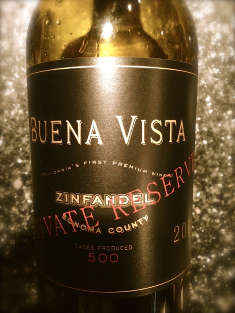 2012 Private Reserve Zinfandel, Buena Vista, Sonoma, California, USA.