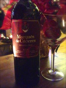 2010 Marques de Caceres Crianza Red, Rioja, Spain.