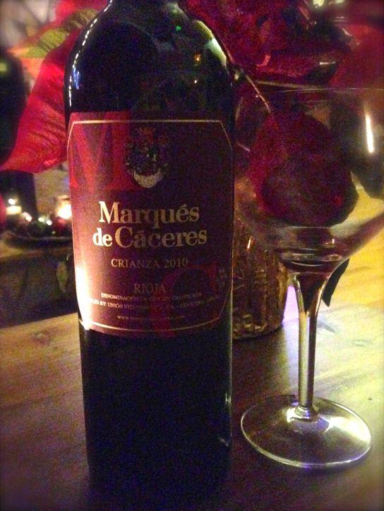 2010 Marques de Caceres Crianza Red, Rioja, Spain.