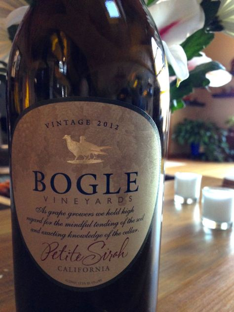 2012 Petite Syrah, Bogle Vineyards, California, USA.