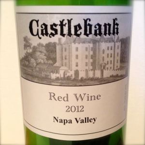 2012 Castlebank Napa Valley Red Wine, California, USA.