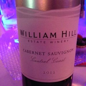 2012 William Hill Estate Winery, Cabernet Sauvignon, Central Coast, California, USA.
