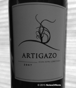 2007 Artigazo, Edicion Limitada, Carinena, Spain. NotesOfNote.