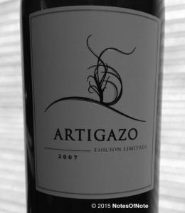 2007 Artigazo, Edicion Limitada, Carinena, Spain. NotesOfNote.