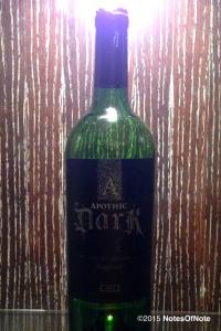 2013 Apothic Dark Limited Release, California, USA.