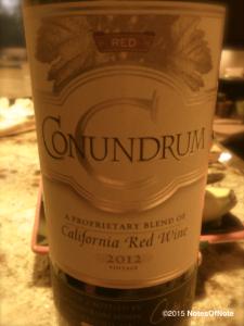 2012 Conundrum Red Wine, California, USA.