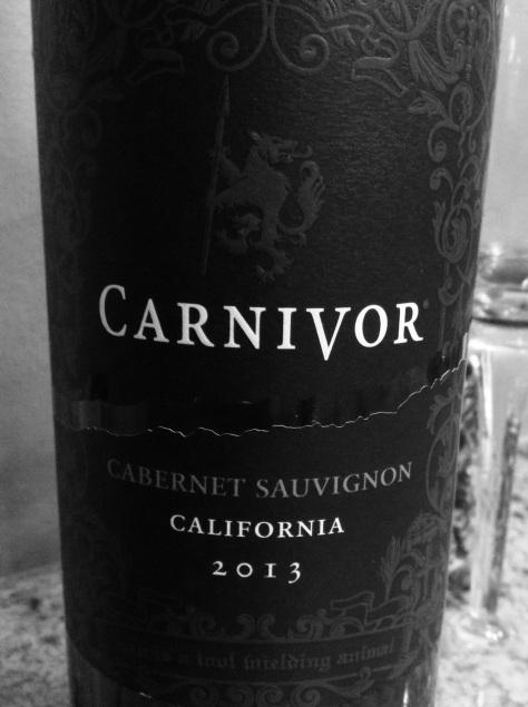 2013 Carnivor, Cabernet Sauvignon, California, USA.
