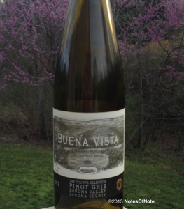 2012 Pinot Gris, Count's Selection, Buena Vista, Sonoma County, California, USA.