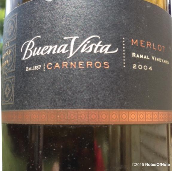 2004 Merlot, Buena Vista Ramal Estate Vineyard Series