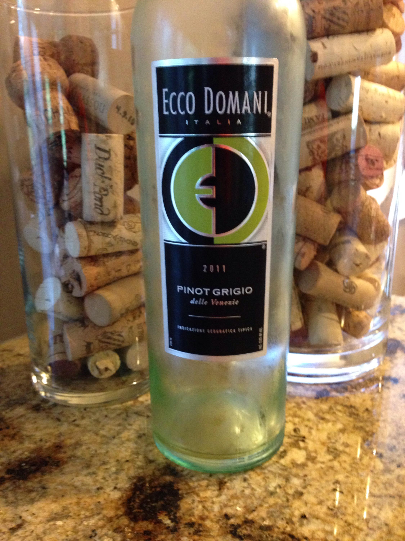 2011 Ecco Domani Pinot Grigio, Delle Venezie, Italy.