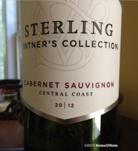 2012 Sterling Vintner's Collection Cabernet Sauvignon, Central Coast, California, USA.