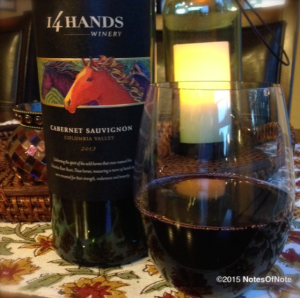 2013 Cabernet Sauvignon, 14 Hands, Columbia Valley, Washington, USA.