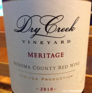 2010 Meritage, Dry Creek Vineyard, Sonoma, California, USA.