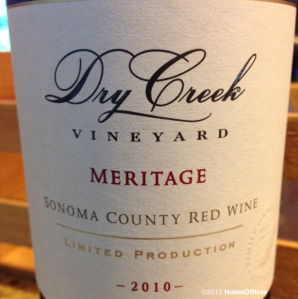 2010 Meritage, Dry Creek Vineyard, Sonoma, California, USA.