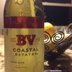 2013 Pinot Noir, BV Coastal Estates, Rutherford, California, USA.