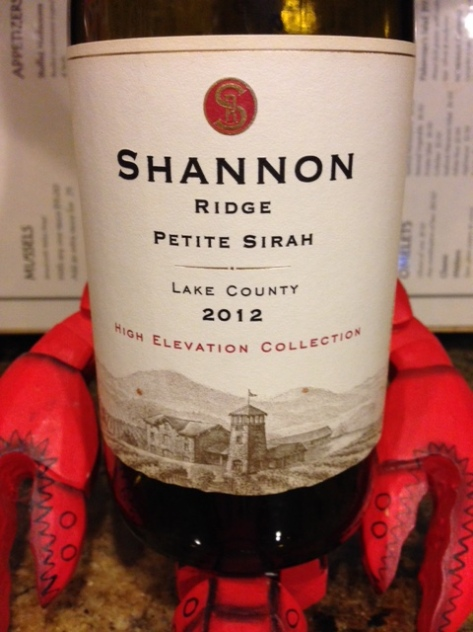 2013 High Elevation Petite Sirah, Shannon Ridge, California, USA.