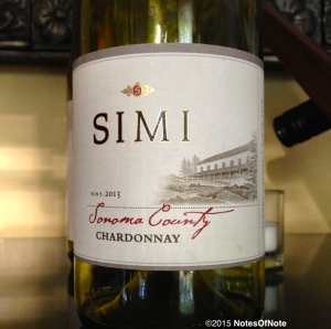 2013 Simi Chardonnay, Sonoma, California, USA.