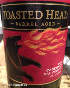 2013 Toasted Head Cabernet Sauvignon, Yolo County, California, USA.