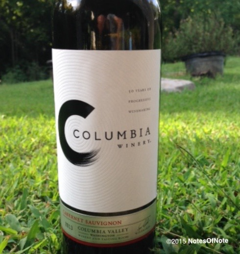 2013 Cabernet Sauvignon, Columbia Winery, Woodinville, Washington, USA.