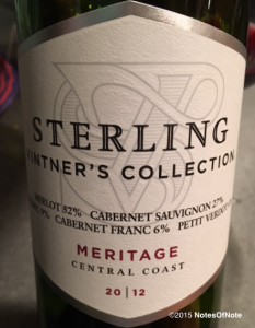 2012 Vintner's Collection Meritage, Sterling Vineyards, Central Coast