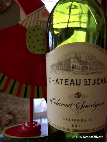 2012 Cabernet Sauvignon, Chateau St. Jean, California, USA.