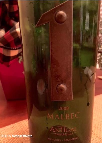 2008 Malbec 1, Antigal
