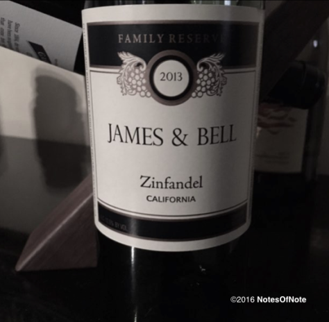 2013 James & Bell Zinfandel, California, USA.