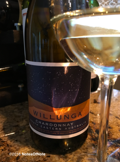 2013 Willunga Chardonnay, South Eastern Australia.